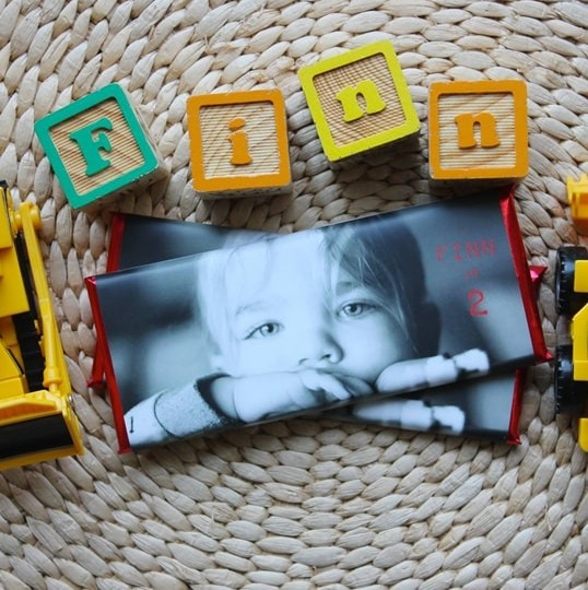 Personalized full photo birthday candy wrappers