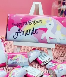 Birthday themed Hershey's candy bar wrappers