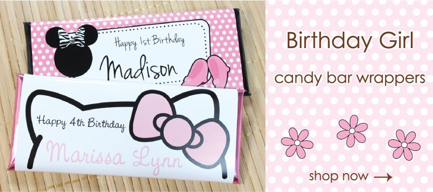 Birthday Girl Candy Bar Wrappers