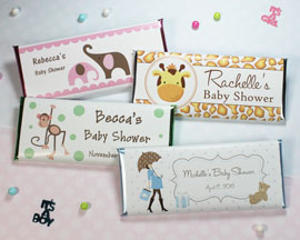 Baby Shower and Birth Announcement Candy Bars