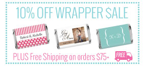 10% off wrappers PLUS free shipping over $75
