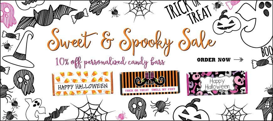 Save 10% on All Halloween Personalized Wrappers