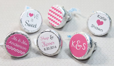 Wedding Reception Stickers Of Hershey S Kisses