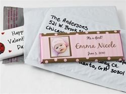 White Candy Bar Bubble Mailer