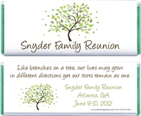 Family Tree Reunion Candy Bar Wrappers