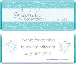 Bat Mitzvah Stars Candy Bar Wrapper