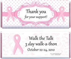 Breast Cancer Awareness Candy Bar Wrappers