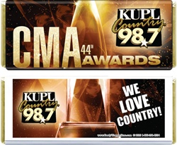 CMA Awards 2010 Full Size Candy Bar Wrapper