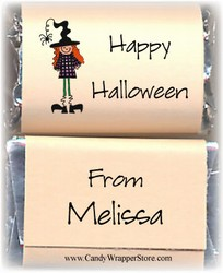 Miniature Halloween Candy Bar Wrappers