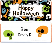 Halloween Skull Candy Bar Wrapper