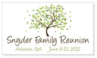 Family Tree Reunion Save the Date Magnets