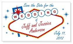 Las Vegas Sign Wedding Save the Date Magnet