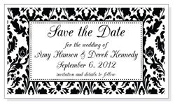 Damask Print Wedding Save the Date Magnet