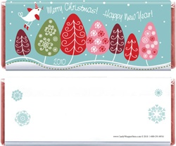 Non Personalized Little Birdie Christmas Wrapper Quick Favor