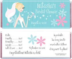 Wedding Shower Chic Bride 1 55 Oz Candy Bar Wrers