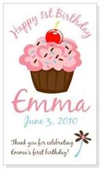 Cupcake Birthday Magnet