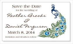 Wedding Peacock Save the Date Magnet