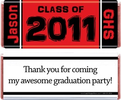 Class of 2011 Graduation Candy Bar Wrapper