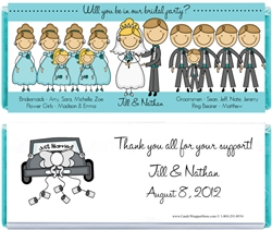 Bridal Party Candy Bar Wrapper