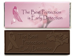 Breast Cancer Early Detection Chocolate Candy Bar