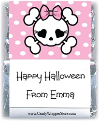 Miniature Girly Scull Halloween Wrapper