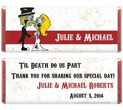 Zombies kissing wedding wrapper