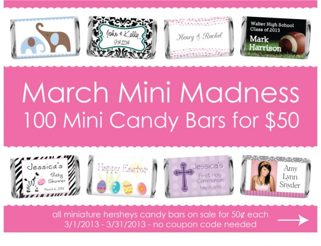 100 Miniature Candy Bars for only $50.00