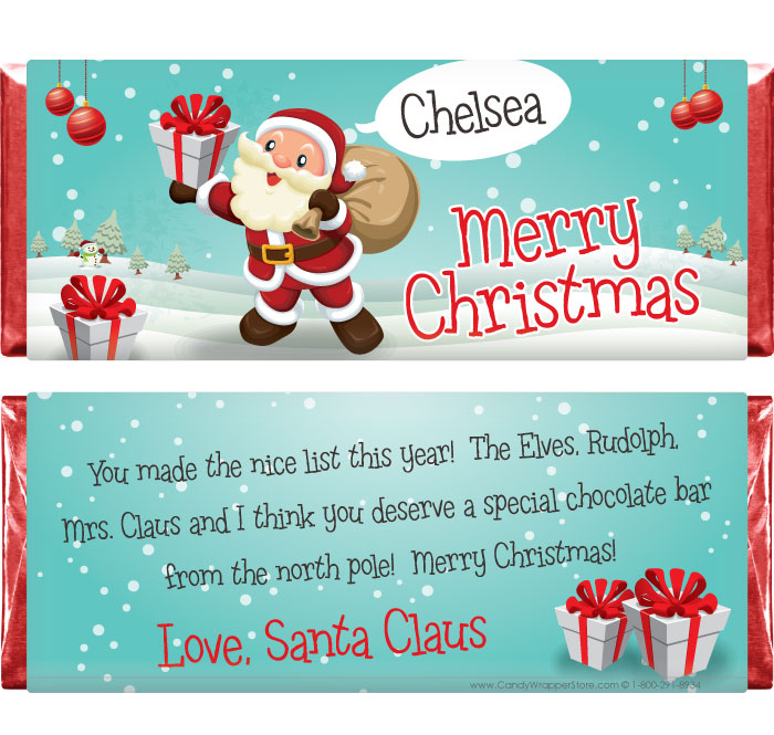 santa candy bar | Candy Wrapper Store