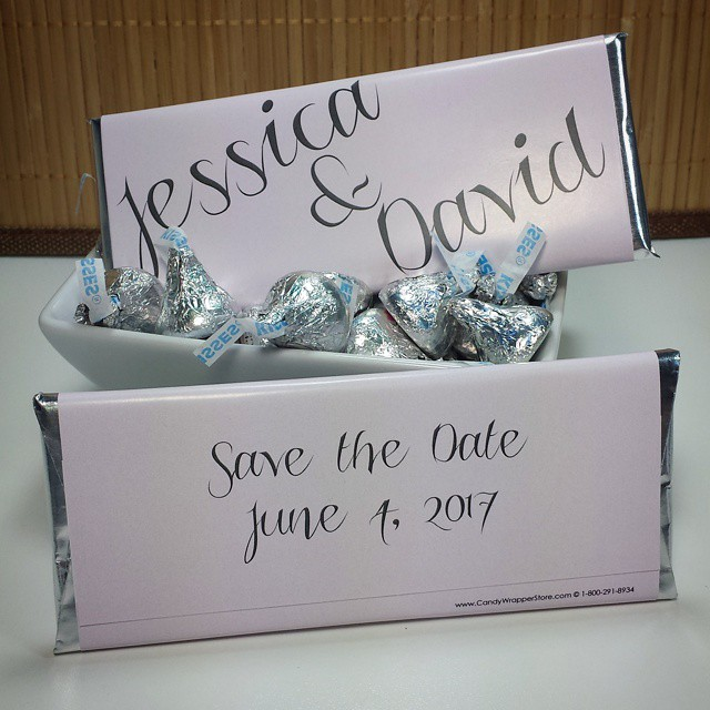 save the date candy bar